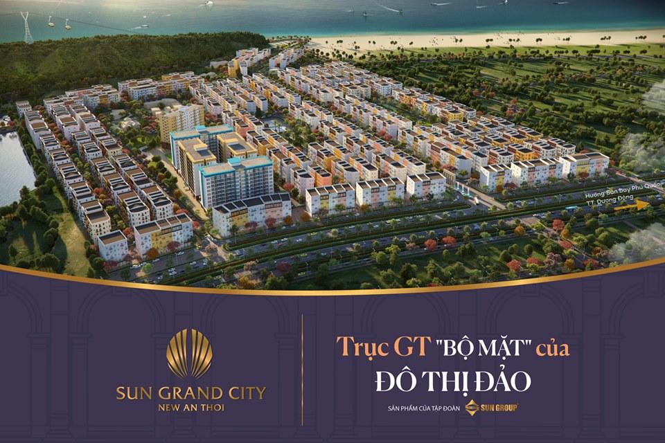 Với vị trí giao thông thuận tiện, độ nhận diện cao, tiềm năng kinh doanh trên trục GT Sun Grand City New An Thoi sẽ rất lớn