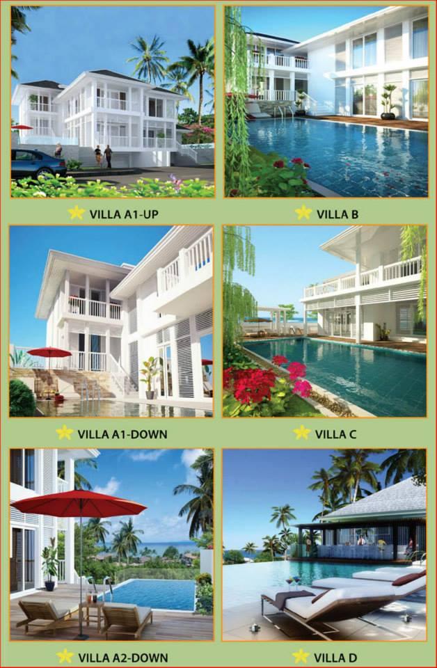 Kiến trúc tổng thể của các Villa