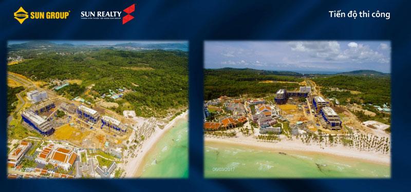 Ảnh chụp cận cảnh Premier Village Phú Quốc Resort thi công dự án