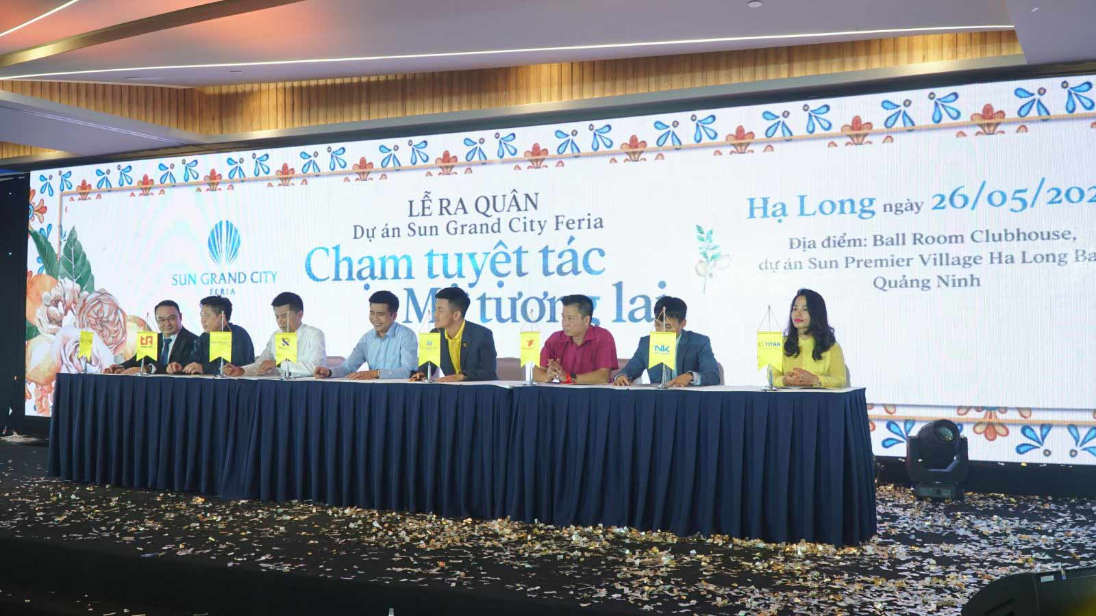 Lễ ký kết hợp tác dự án Sun Grand City giữa tập đoàn Sun Group với các đại lý