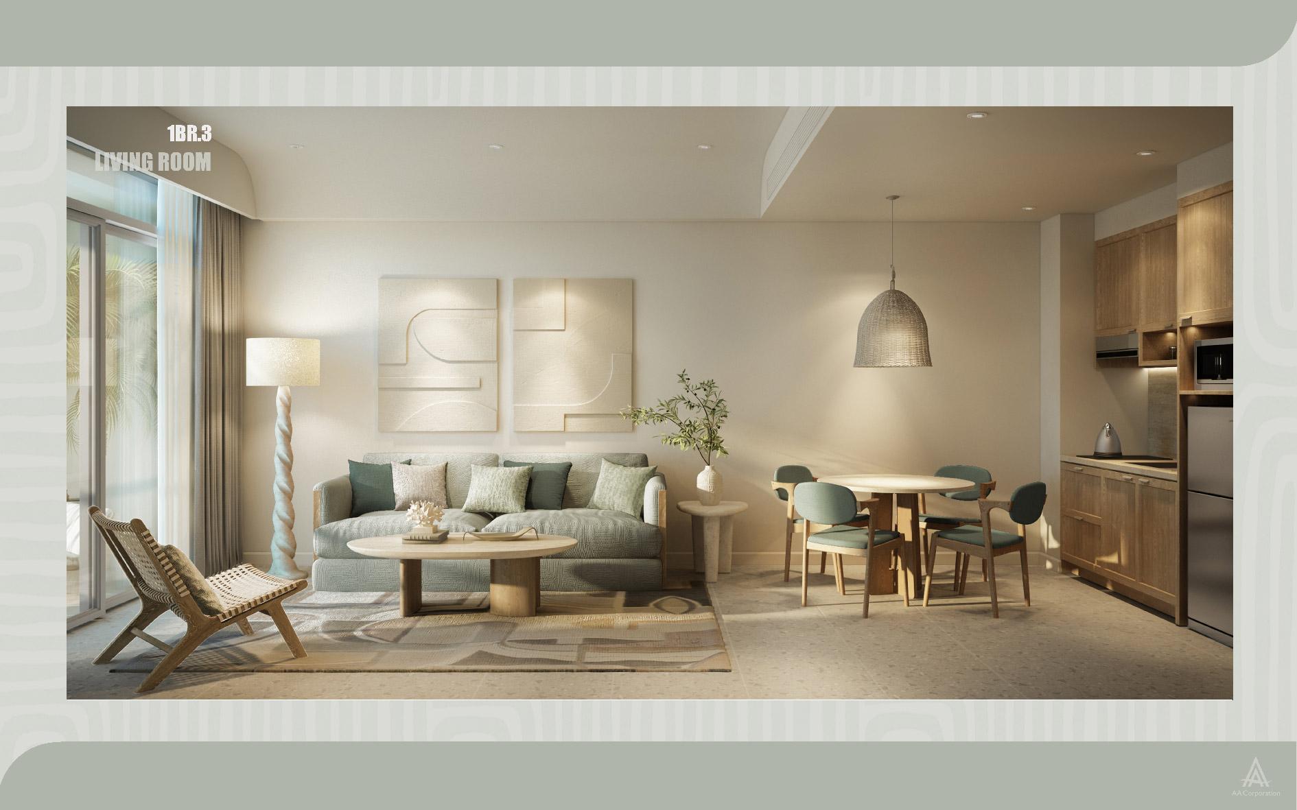 Concept Santorini căn 1 phòng ngủ The Hill