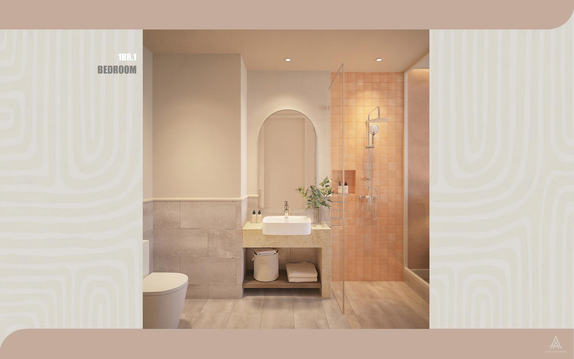 Concept Santorini nội thất cho căn studio Hillside