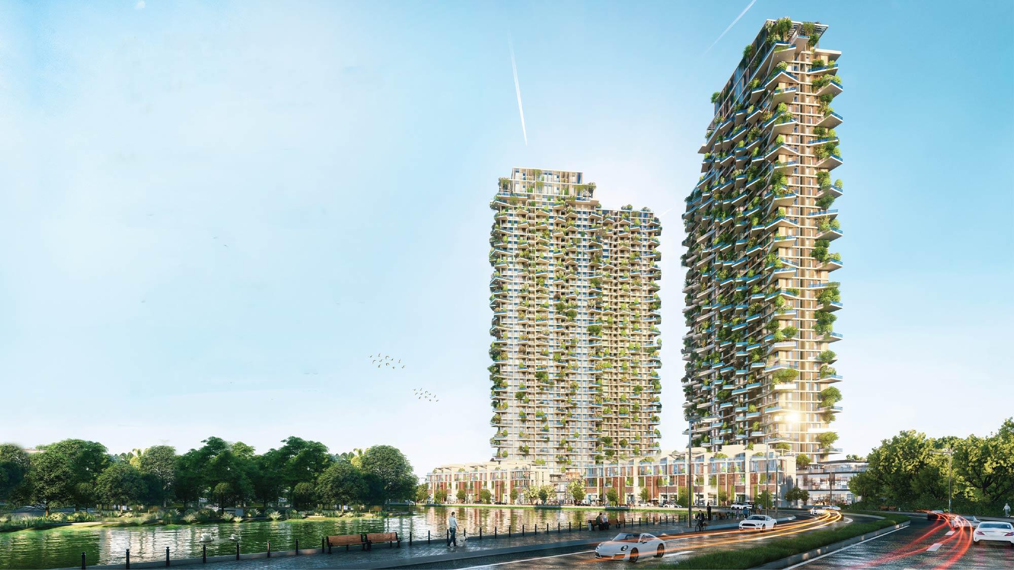 Sol Forest là dự án đầu tiên tại Hà Nội được xây dựng theo mô hình Vertical Forest
