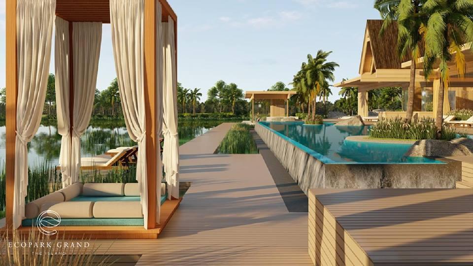 Bể bơi view hồ yên bình chắc chắn sẽ là nơi thư giãn tuyệt với sau một ngày bộn bề với công việc
