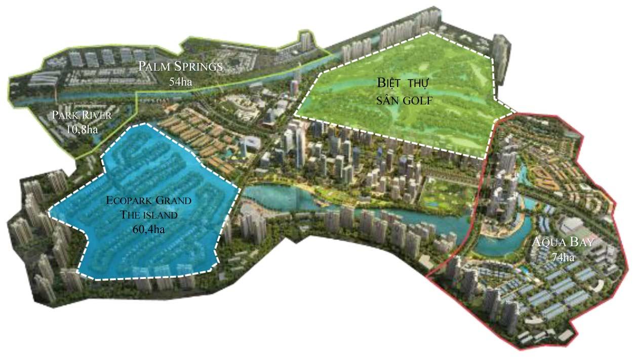 Ecopark Grand The Island - Lá phổi xanh của khu đô thị sinh thái Ecopark