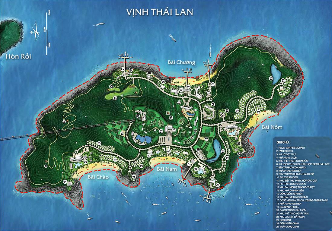 (Quy hoạch dự án Cáp treo Hòn Thơm, nằm trong quần thể Khu vui chơi giải trí Hòn Thơm)