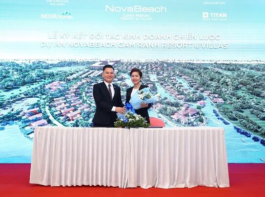 Lễ kí kết đối tác kinh doanh chiến lược dự án NovaBeach Cam Ranh resort & villas giữa Novaland và Titan