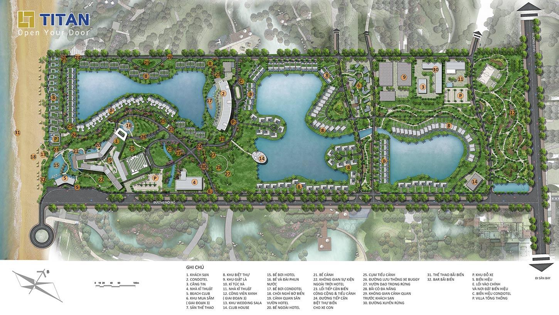 Mặt bằng quy hoạch tổng thể dự án Movenpick Phú Quốc