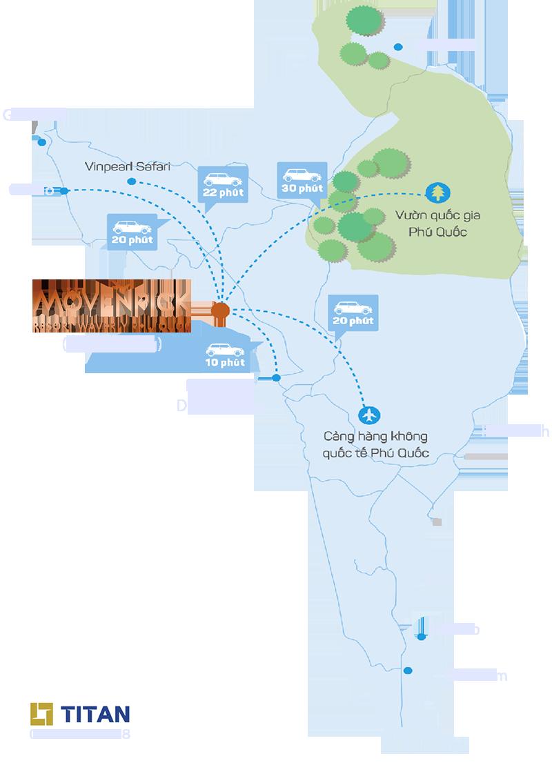 Bản đồ vị trí dự án Movenpick Phú Quốc