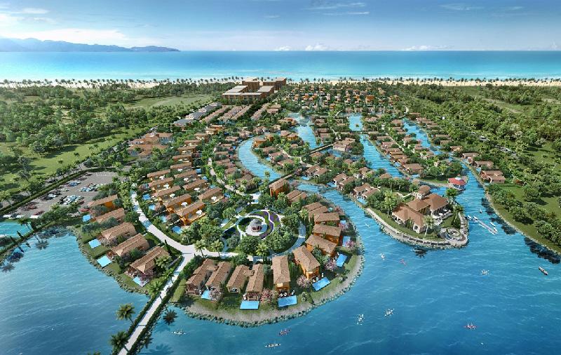 Các công trình nghỉ dưỡng hài hòa với cảnh quan thiên nhiên tuyệt mỹ tại bãi Dài sẽ là đòn bẩy cho du lịch của tỉnh Khánh Hòa