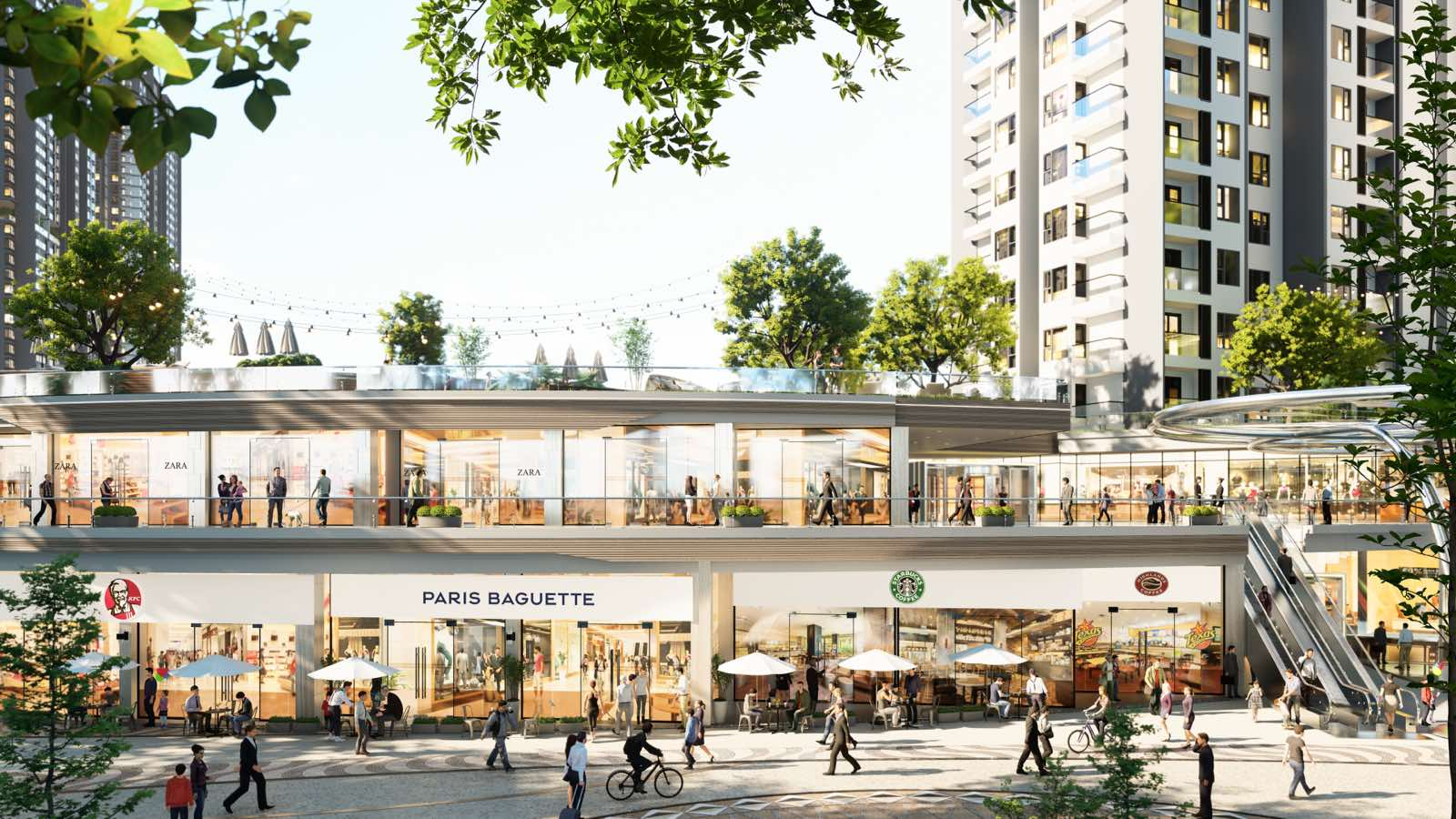 trung tâm thương mại S3 Sky oasis