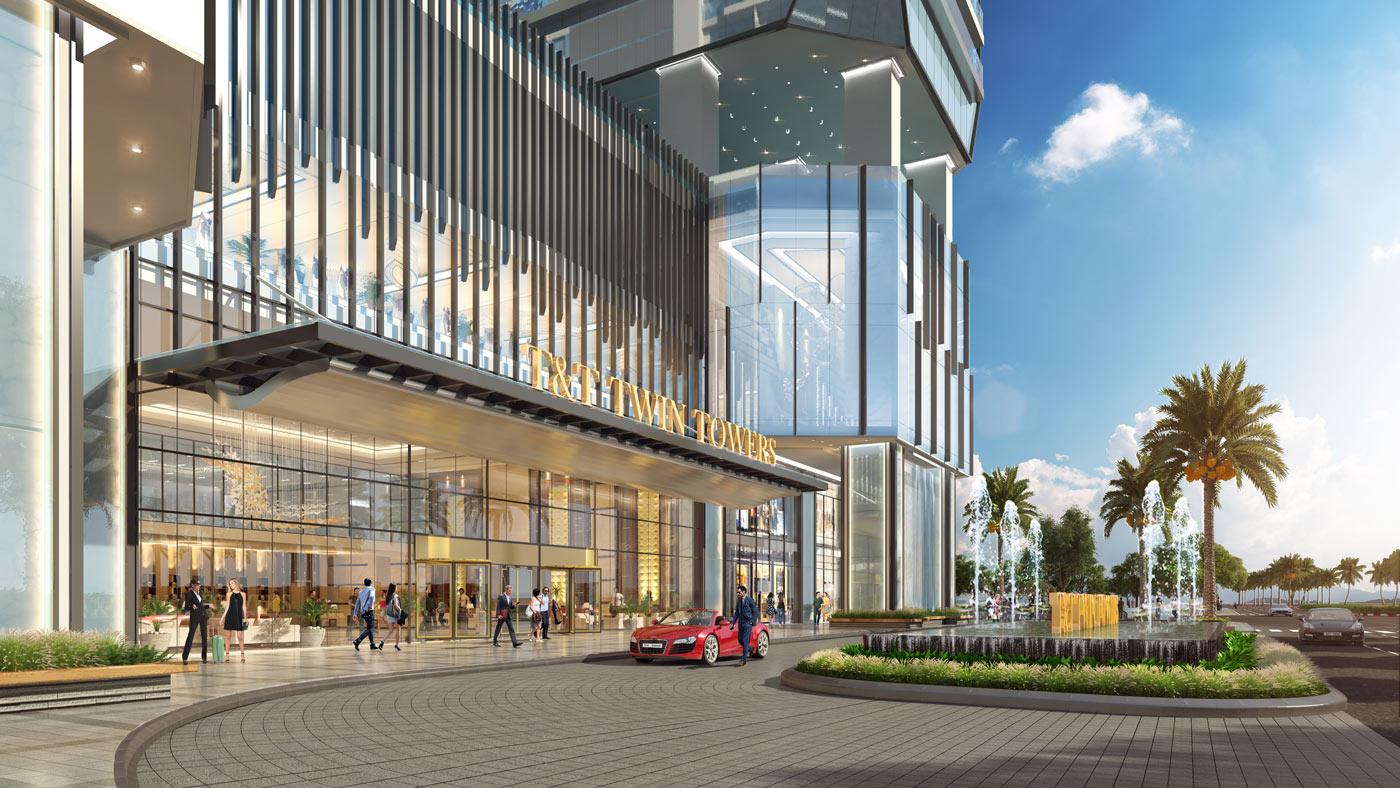 Tiện ích dự án T&T Tower Đà Nẵng - Đại sảnh với đài phun nước