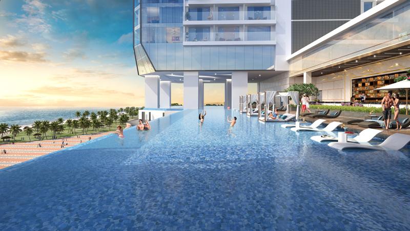 Tiện ích dự án T&T Tower Đà Nẵng - Bể bơi tràn bờ