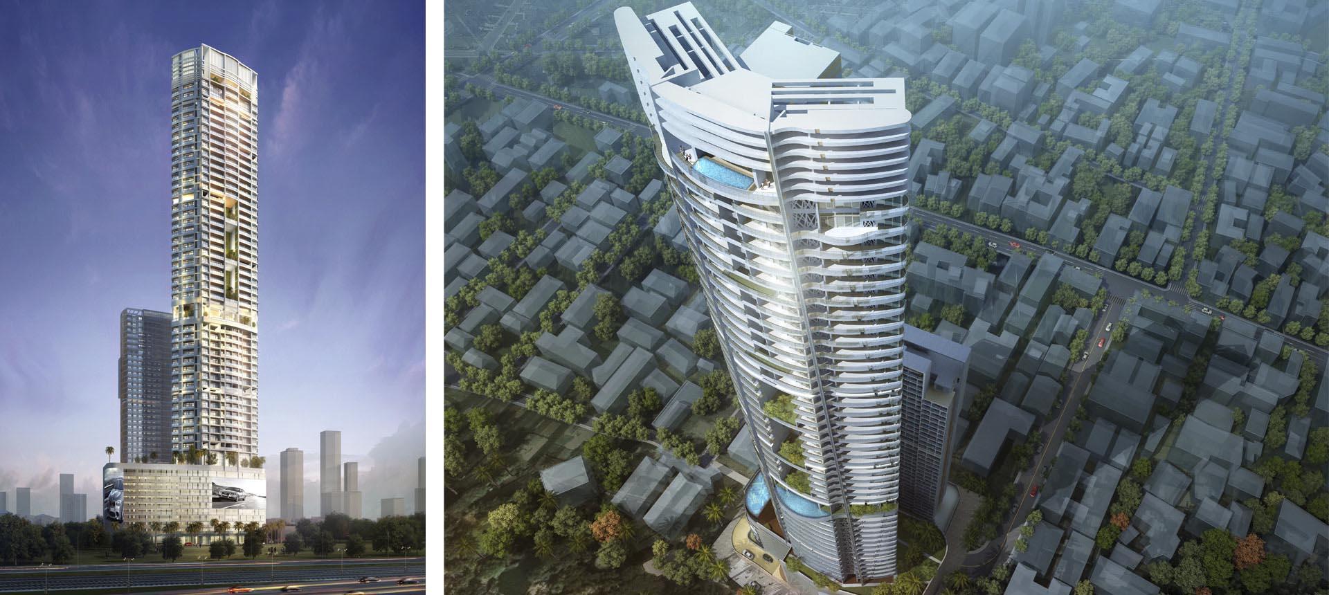 Tháp Lohana do Callison Hong Kong la don vi thiet ke s premium sky oasis ecoparj