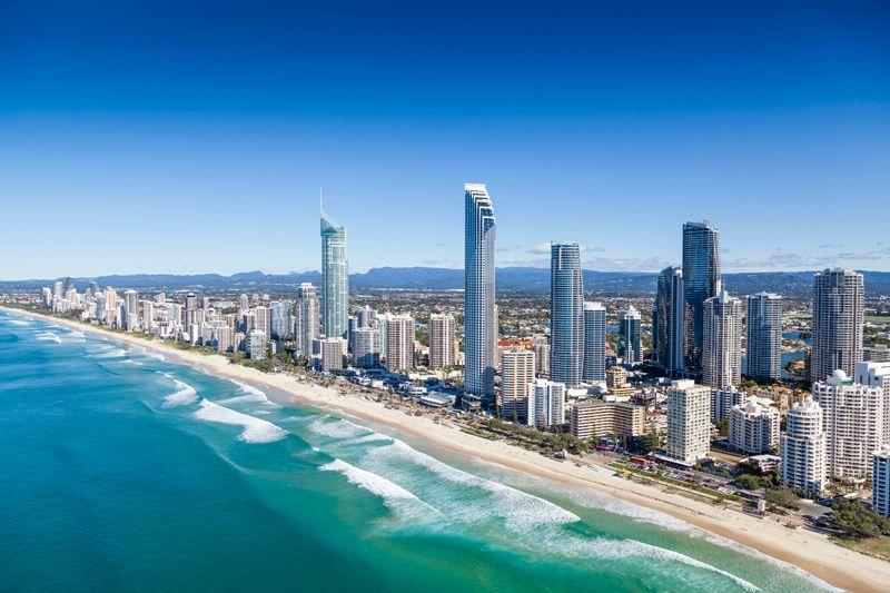 Thành phố Gold Coast (bang Queensland) nơi được mệnh danh là thành phố bờ biển vàng nước Úc
