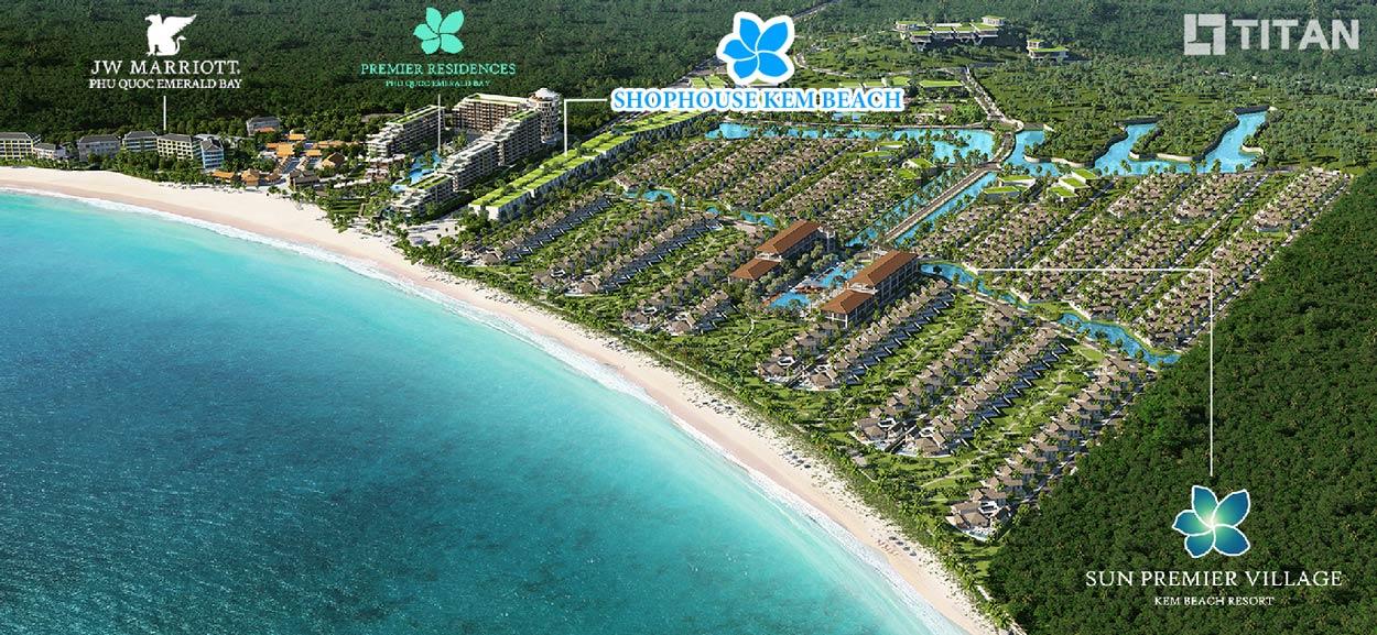 Toàn cảnh quy hoạch Bãi Kem Phú Quốc Tập đoàn Sun Group, bao gồm dự án JW Marriott Phú Quốc
