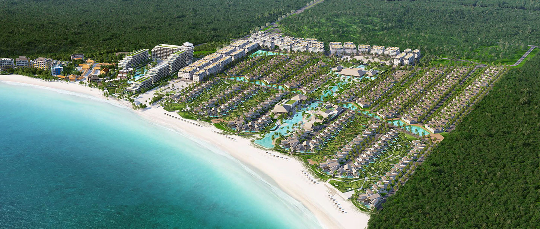 toan canh du an sun premier village bai kem va lien ket khu: JW Marriot Phú Quốc + Premier Residences Phú Quốc Emerald Bay