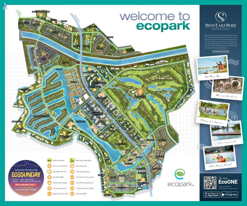 Bản đồ tiện ích khu đô thị Ecopark