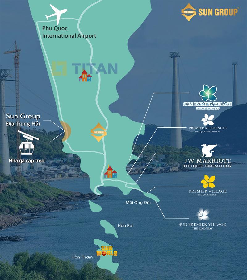 vị trí liên kết vùng dự án Sun Group Địa Trung Hải