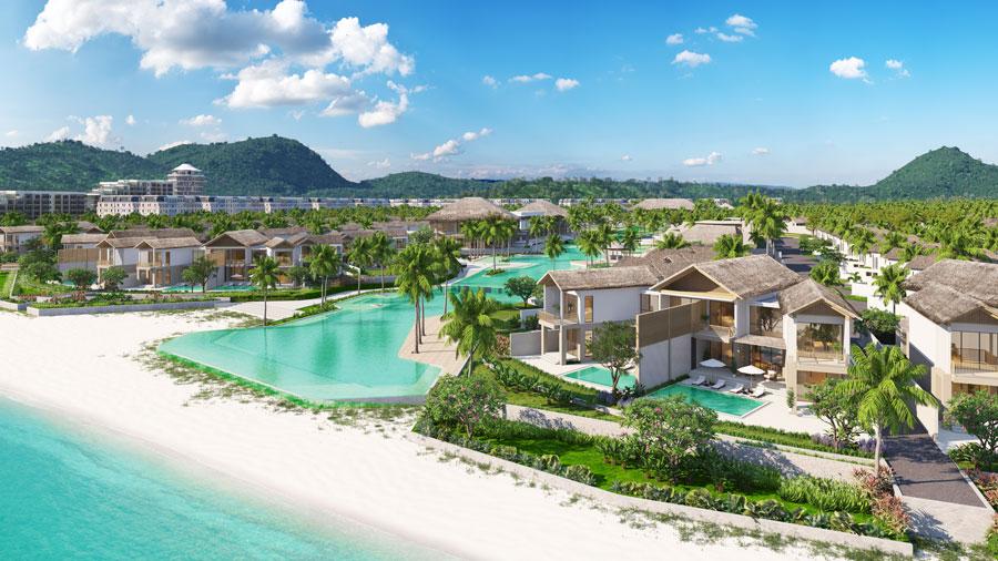 """Khu nghỉ dưỡng Sun Premier Village Kem Beach Resort nổi bật với những căn biệt thự """"làng biển"""" sở hữu tầm view đắt giá"""