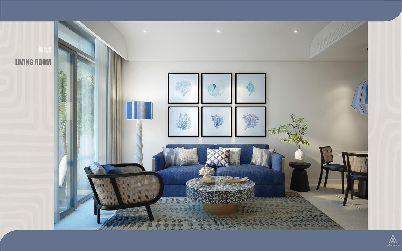 Thiết kế căn hộ Hillside theo kiến trúc Santorini phong vị Địa Trung Hải đa dạng các loại phòng 1 ngủ, 2 ngủ, dual-key
