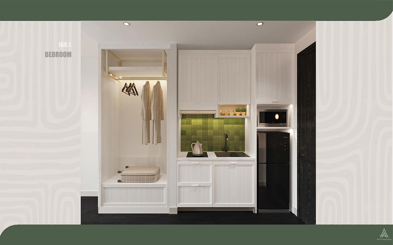 Thiết nội thất căn hộ Hillside Residence mang phong vị thị trấn Địa Trung Hải