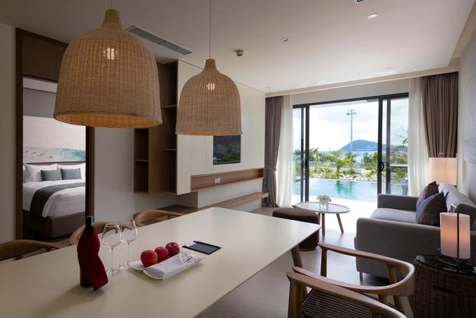 Các căn hộ nghỉ dưỡng với tầm nhìn rộng thoáng thu trọn tầm mắt