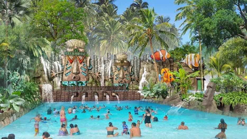 Dự kiến khai trương vào cuối năm 2019, công viên nước Aquatopie hứa hẹn sẽ là điểm đến vui chơi hấp dẫn tại đảo Ngọc dịp tết dương lịch 2020
