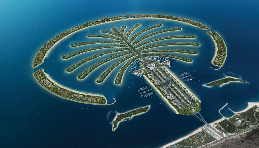 Vẻ đẹp kỳ vĩ của đảo Palm Jumeirah Island Dubai