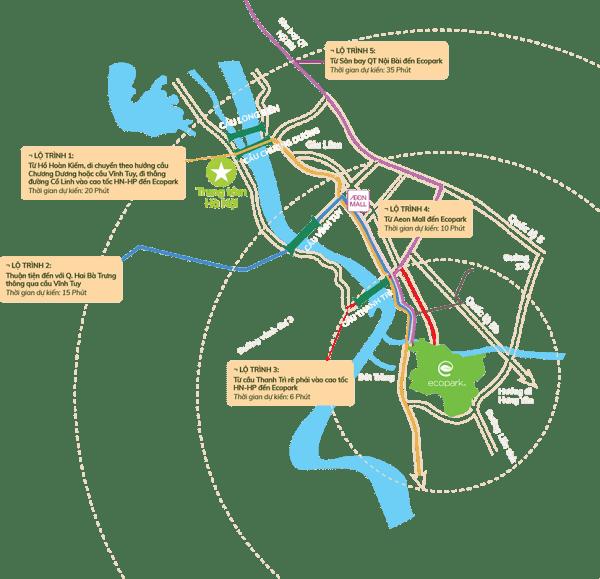Vị trí dự án chung cư Sol Forest Ecopark - Bản đồ thu nhỏ