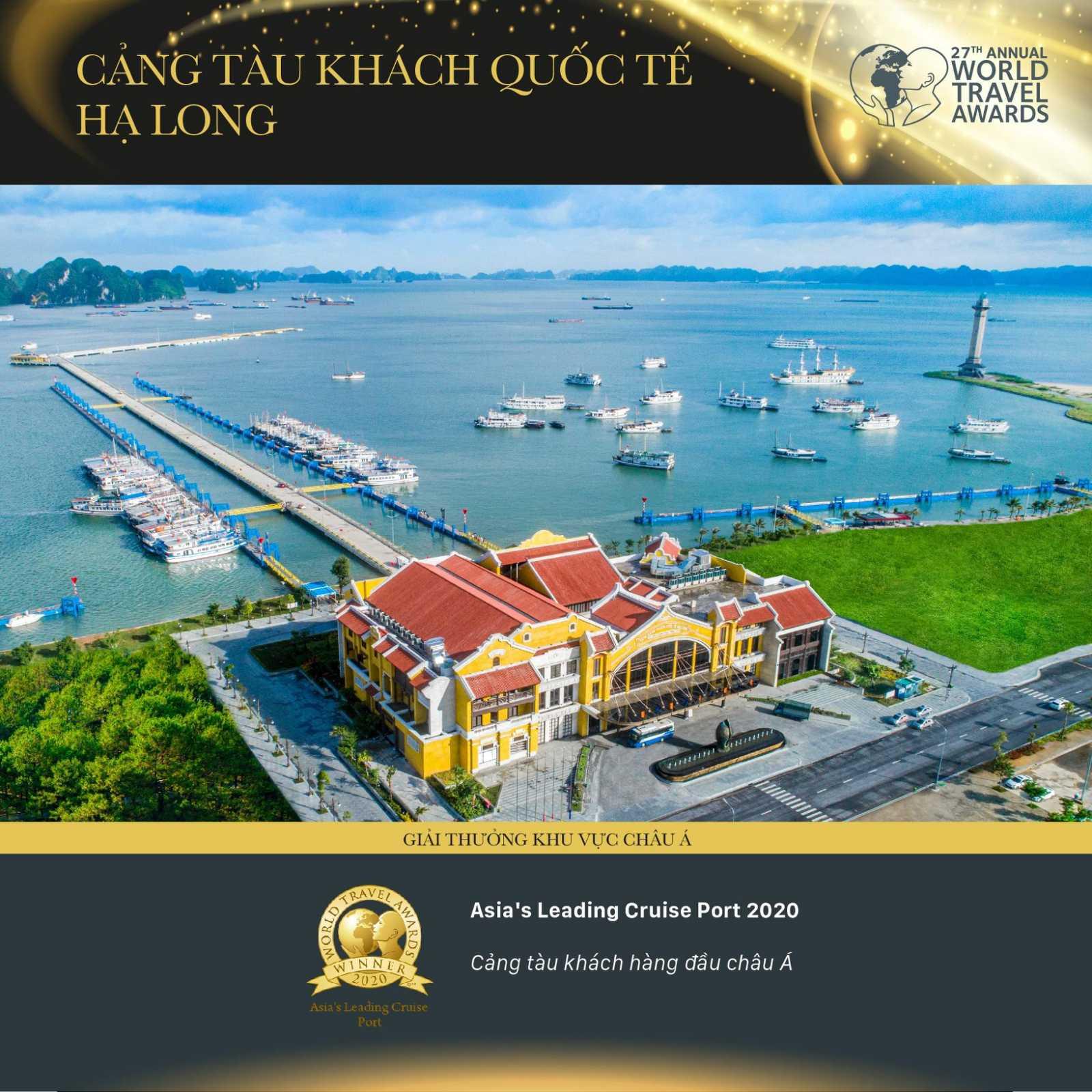 Cảng tàu khách hàng đầu Châu Á 2020 gọi tên cảng tàu khách quốc tế Hạ Long