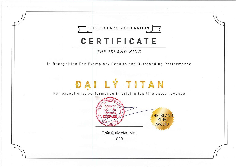 Những giải thưởng danh giá của Titan với dự án Biệt thự đảo Ecopark Grand - The Island