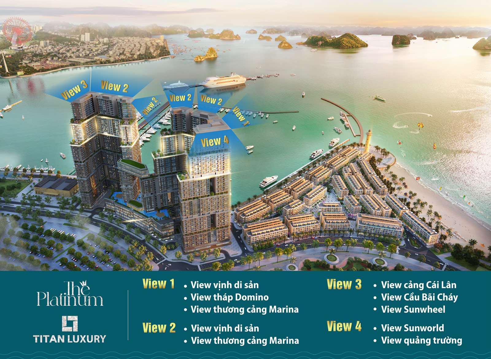 Hướng view căn hộ Sun Marina Town The Platinum