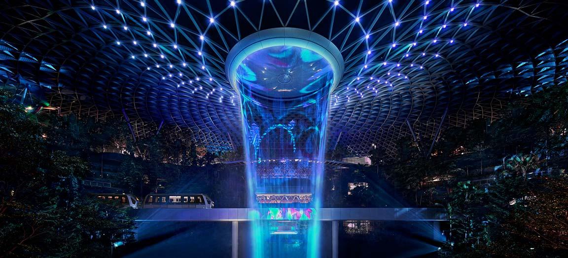 Jewell tại sân bay Changi Singapore cũng là một trong những công trình áp dụng công nghệ Vortex
