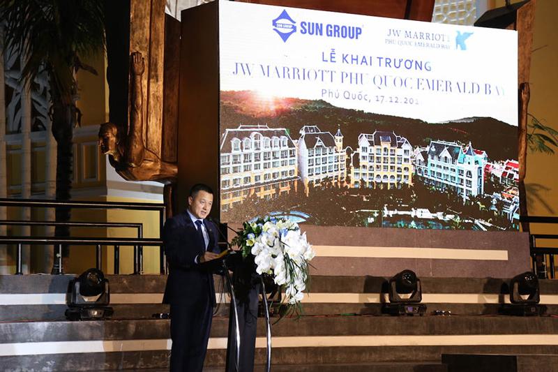 Ông Đặng Minh Trường tại lễ khai trương khu nghỉ dưỡng đẳng cấp 6 sao quốc tế JW Marriott Phú Quốc