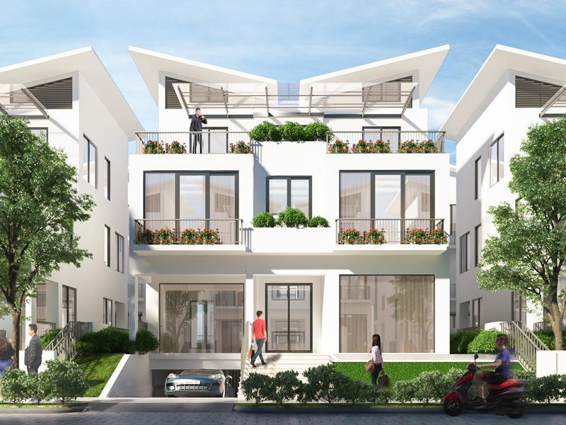 Ảnh thiết kế một căn biệt thự đơn lập tại dự án Khai Sơn Hill Long Biên