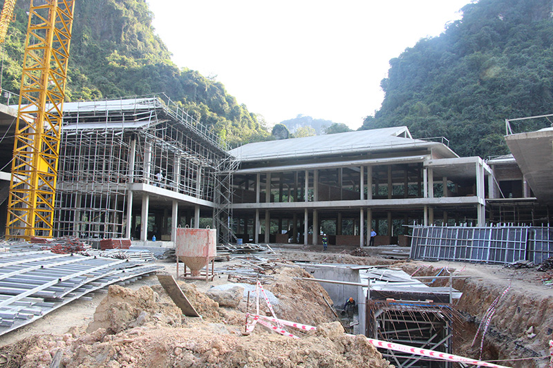 Tiến độ thi công dự án suối khoáng nóng cao cấp Quang Hanh