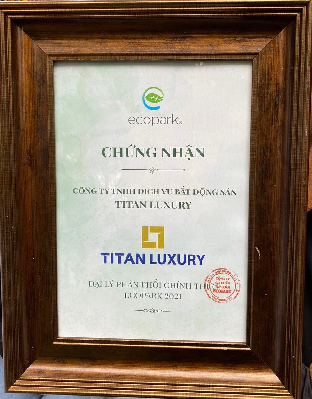 Titan tiếp tục là đại lý phân phối chính thức các dự án của Ecopark năm 2021