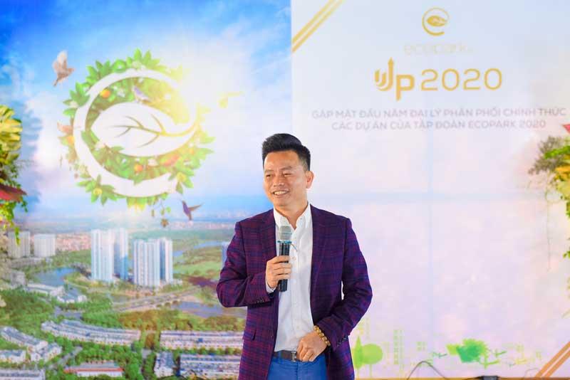 Ông Trần Quốc Việt - Tổng giám đốc Tập đoàn Ecopark phát biểu tại buổi lễ