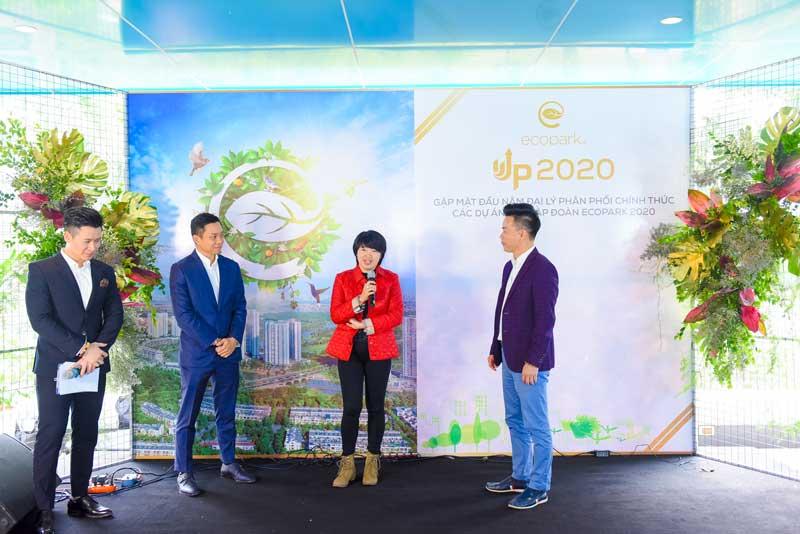 Bà Nguyễn Thị Liên Dung - Chủ tịch HĐQT Titan Group đã có những chia sẻ tâm huyết về các dự án Ecopark tại buổi lễ