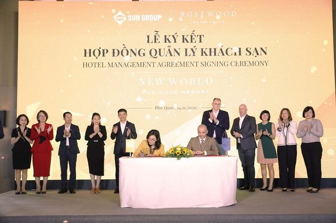 Lễ ký kết hợp tác giữa Sun Group và Rosewood Hotel Resort