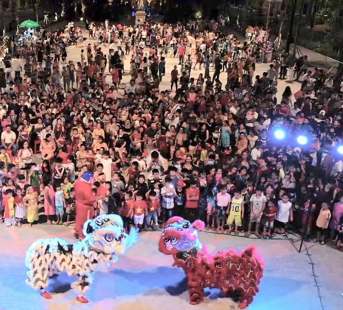 Lễ hội trung thu được Sun Group tổ chức quy mô trong 5 đêm liên tiếp tại KĐT An Thới