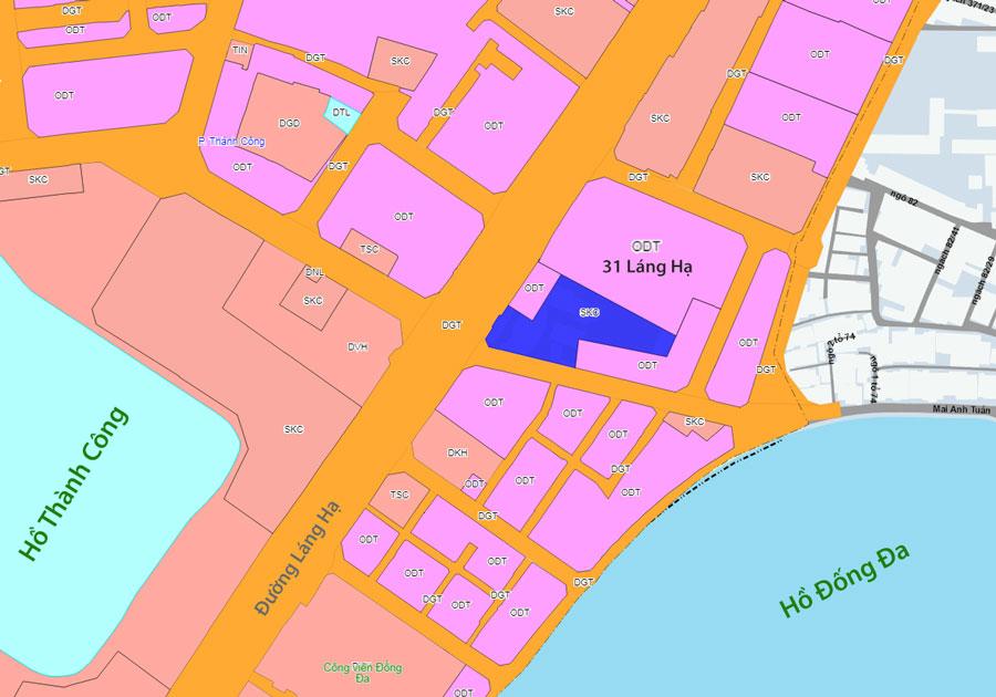 (Quy hoạch và Kế hoạch sá» dụng đất khu đất 31 Láng Hạ của Sở Tài nguyên Môi trường Hà Nội) Tình trạng pháp lý dự án 31 Láng Hạ đã thực sự thông suốt?