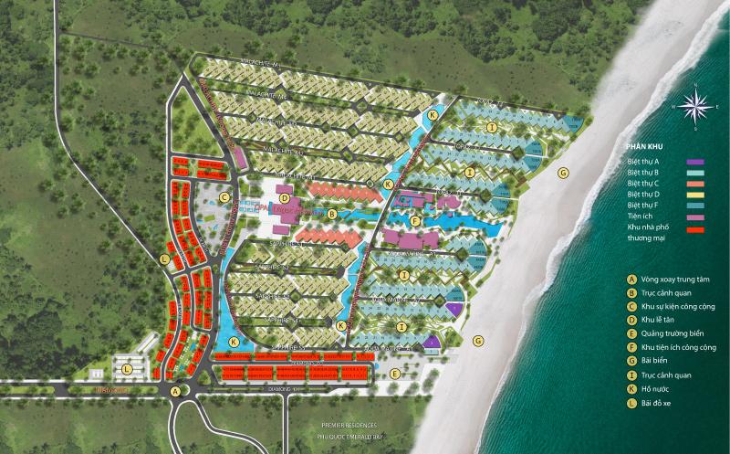 Mặt bằng tổng thể khu nghỉ dưỡng Bãi Kem của Sun Group