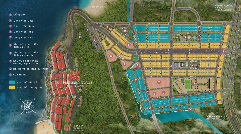 Mặt bằng đánh số phân lô dự án Sun Grand City New An Thới