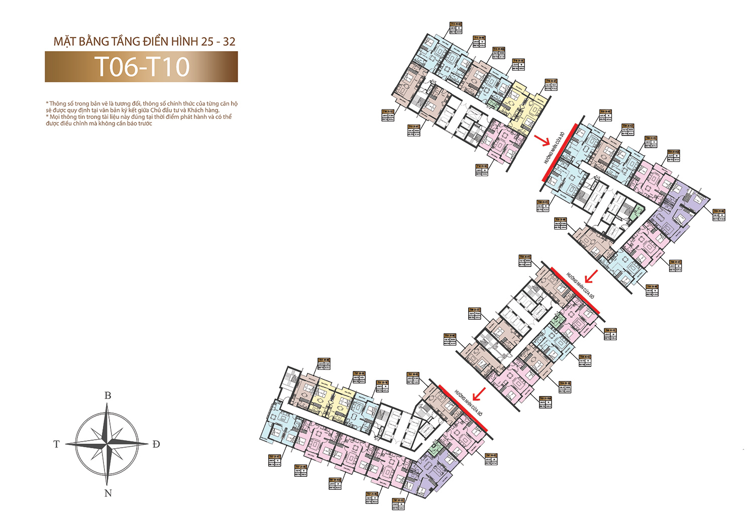 Mặt bằng tầng điển hinh 25 - 32 Sun Marina Town tòa tháp B