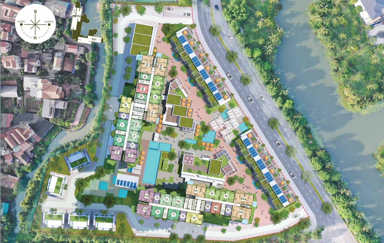 Ảnh 3D Mặt bằng dự án Chung cư Sol Forest Ecopark