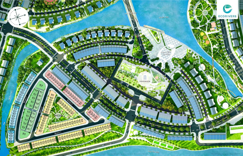 Tổng mặt bằng dự án Resort Vịnh Ngọc Ecorivers Hải Dương