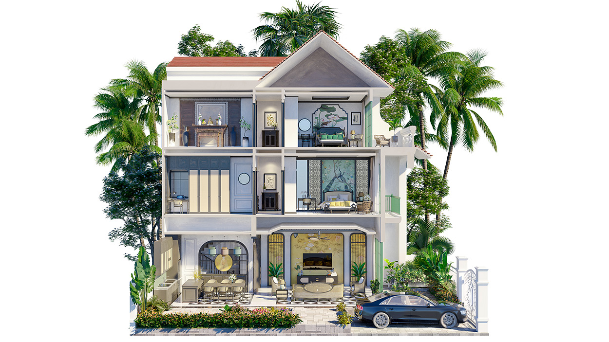 Biệt thự tứ lập Sun Tropical Village