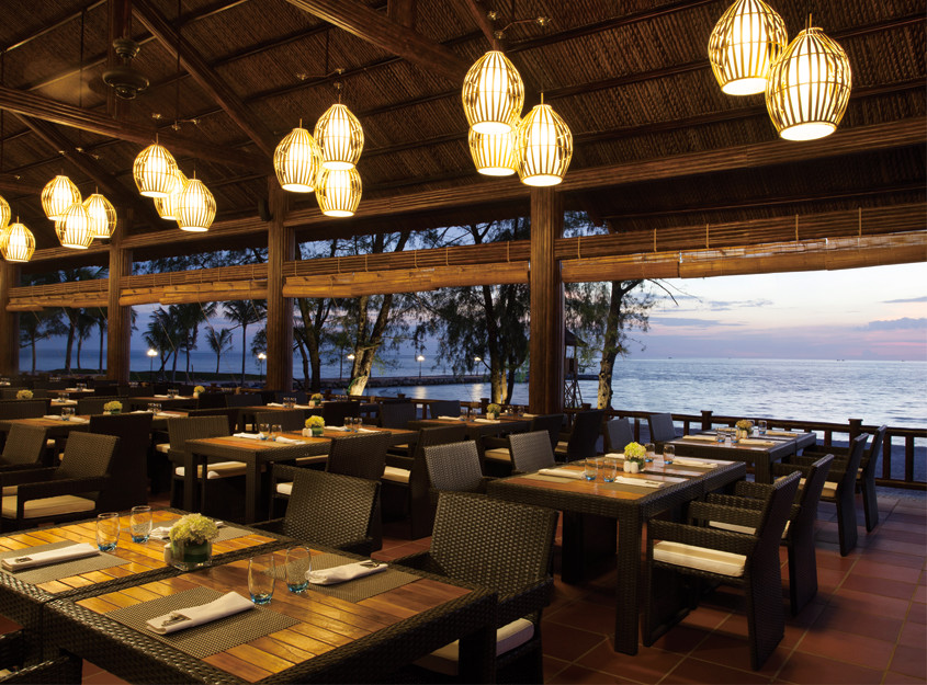 Restaurant at Bai Dai with beautiful sea view open space design